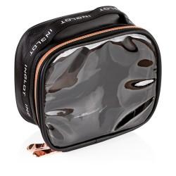 Travel Makeup Bag Small Black&Rose Gold